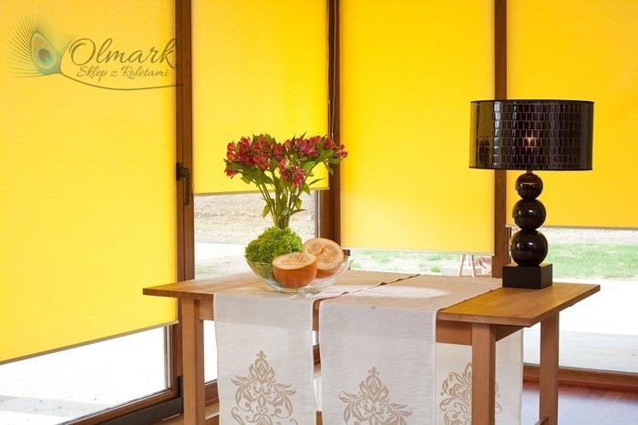 Żółty żakard