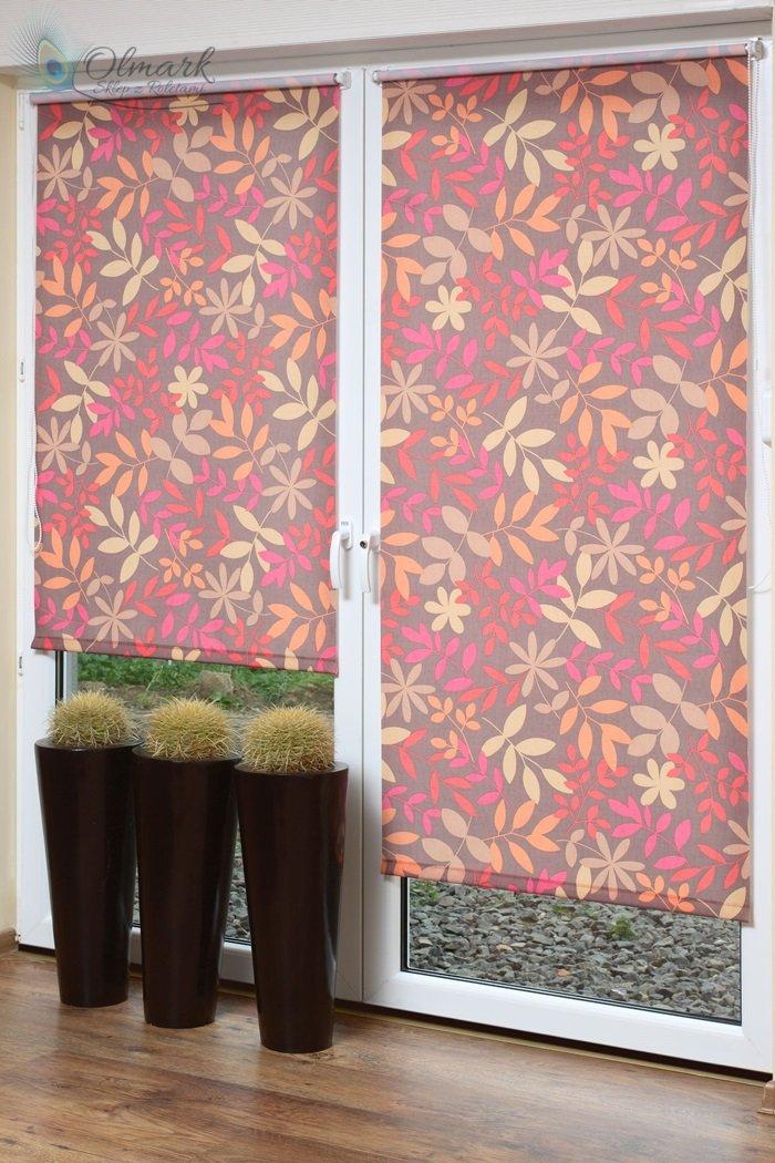 Mini rolety kolorowym wzorem florystycznym 2