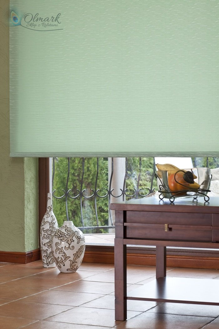 Zielony żakard na roelcie klasycznej