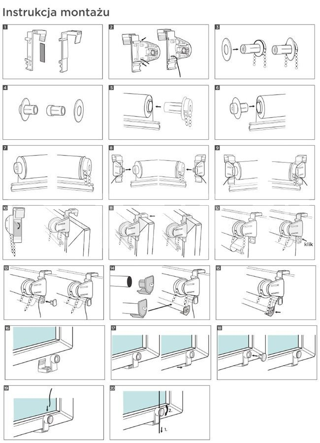 Jak montować mini rolety?