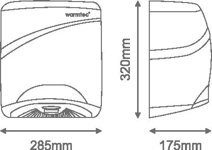 Wymiary suszarki X-Flow
