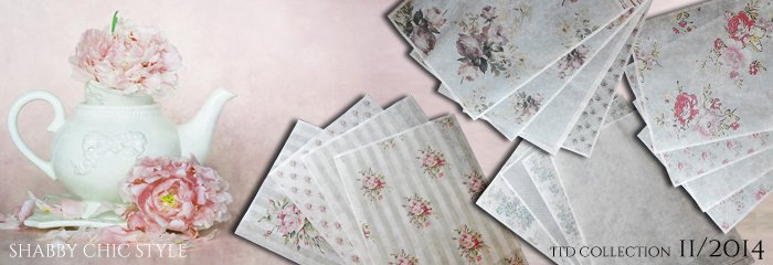 Papier do decoupage w stylu Shabby CHic firmy Itd Collection