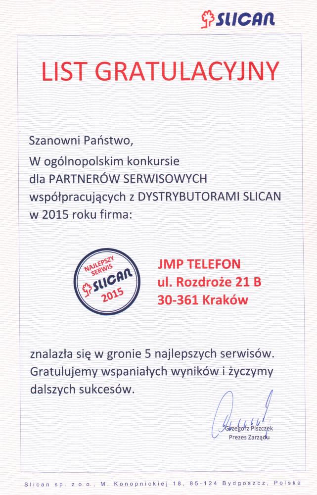 Slican-Gratulacje-JMPTelefon