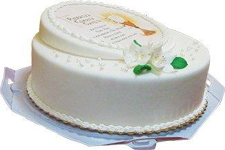 Tort komunijny z opłatkiem