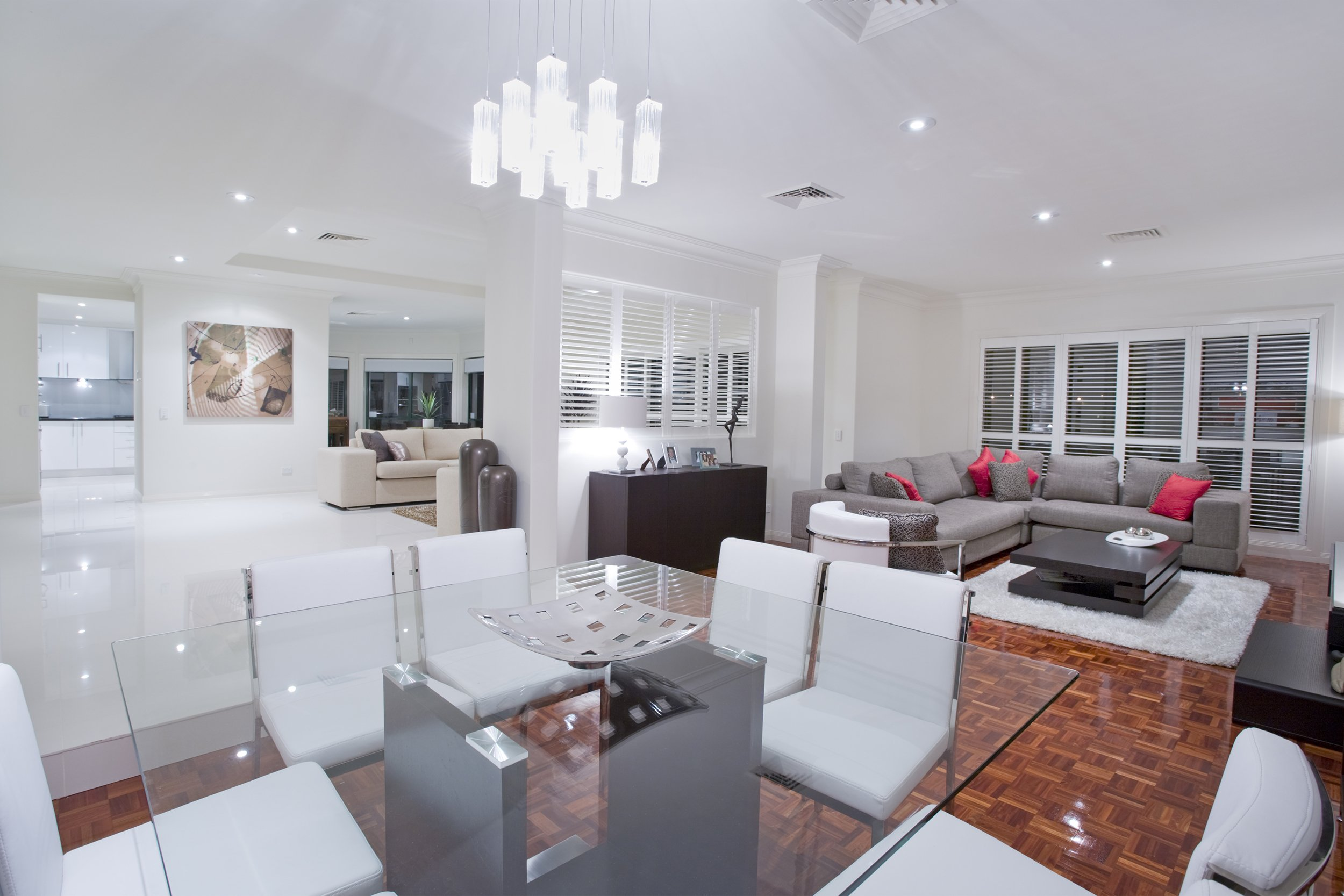 Aran acja salonu kuchni jadalni dodatki do domu for Piani di casa con soggiorno formale e sale da pranzo