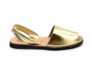 Sandały 36 skórzane VERANO 201 złote klapki hiszpańskie