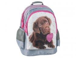 Plecak Szkolny z Pieskiem Pies do Szkoły dla Dziewczyny