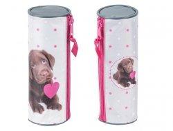 Piórnik Pies Labrador Szkolny Tuba dla Dziewczyny