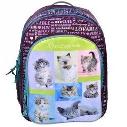 Plecak Szkolny z Kotem do Szkoły dla Dziewczyny Fioletowy