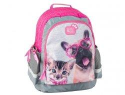 Plecak Szkolny z Kotkiem Pieskiem Pies Kot do Szkoły