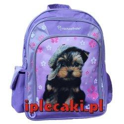Plecak dla Dziewczyny Szkolny z Pieskiem Psem Pies Piesek Szkolny