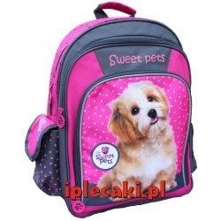 Plecak z Pieskiem Psem Pies Piesek Szkolny dla Dziewczyny