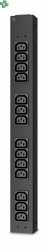 AP6003A RACK PDU, BASIC, HALF HEIGHT, 100-240V/20A, 220-240V/16A, (14) C13