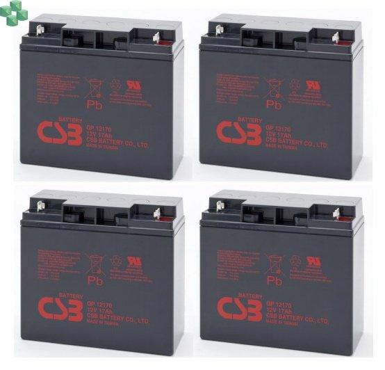 IQRBS11/55 Zestaw 4 akumulatorów 12V/17Ah do zasilacza UPS (równorzędny zamiennik dla APC RBC11 oraz RBC55)