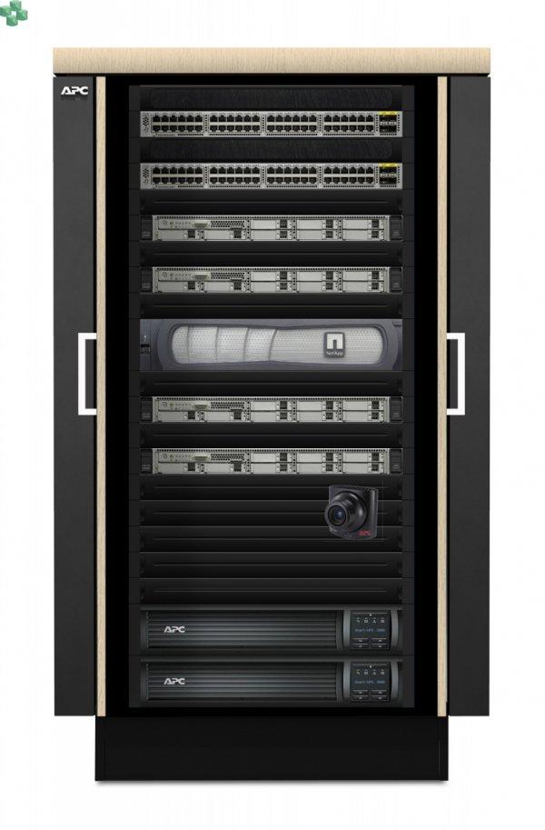 AR4024IX429 Wyciszona meblowa szafa serwerowa  - NetShelter CX 24U 750 mm Wide x 1130 mm Deep Enclosure wykończenie czarne