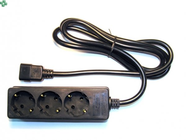 1010081 EATON Przewód zasilania - przejściówka IEC C14 - Schuko 10A 1.5m