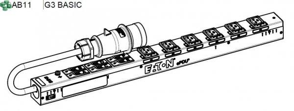 EBAB11 Listwa PDU EATON EPDU BA 0U (309 32A 3P) 6 x C19