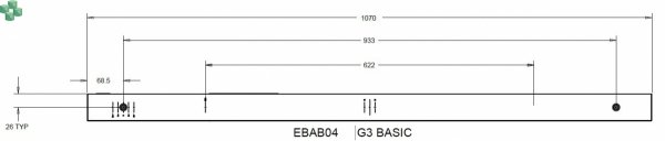 EBAB04 Listwa PDU EATON EPDU BA 0U (309 16A 1P) 20 x C13, 4 x C19