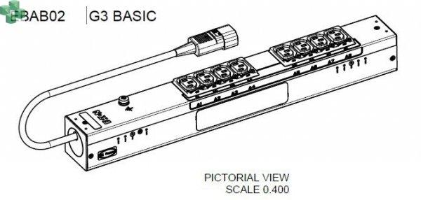 EBAB02 Listwa PDU EATON EPDU BA 0U (C14 10A 1P) 8 x C13