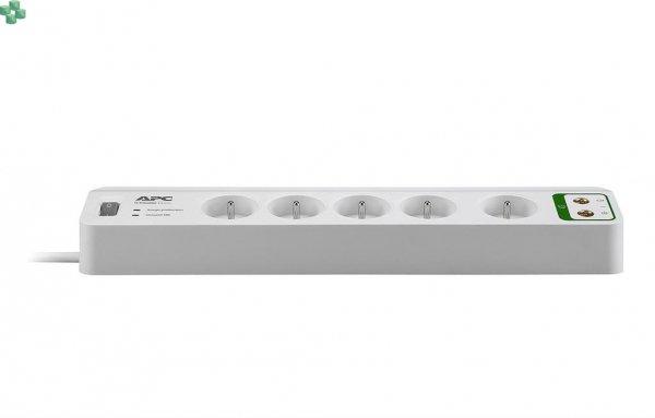 PM5V-FR Listwa przeciwprzepięciowa - APC Essential SurgeArrest 5 outlets with coax protection 230V France