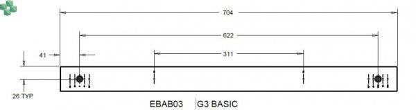 EBAB03 Listwa PDU EATON EPDU BA 0U (C14 10A 1P) 16 x C13