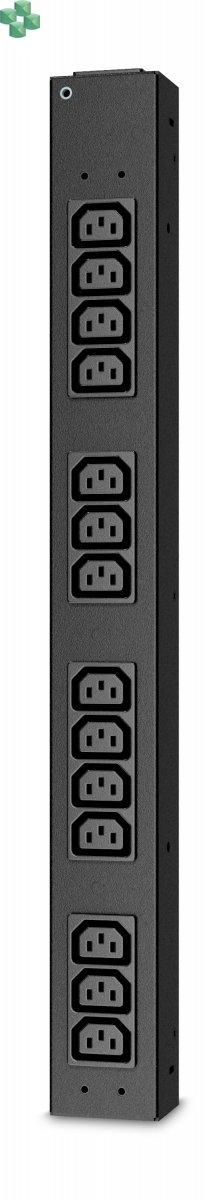 AP6003A RACK PDU, BASIC, HALF HEIGHT, 100-240V/20A, 220-240V/16A, (14) C13