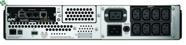SMT2200RMI2UNC APC Smart-UPS 2200 VA LCD do montażu w szafie, 2U, 230 V z kartą sieciową