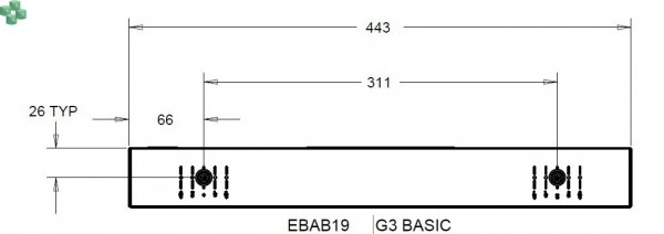 EBAB19 Listwa PDU EATON EPDU BA 0U (C14 10A 1P) 12 x C13