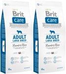Brit Care N Adult Large Breed Lamb 38% & Rice 2x12kg (24kg)