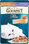 GOURMET Perle - Mięsny Duet z indykiem  i jagnięciną w sosie 85g. Dla dorosłych kotów.
