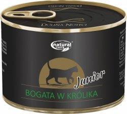Natural Taste Cat Junior Bogata w królika 185g