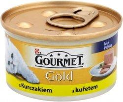 GOURMET Gold - Mięsny mus z kurczakiem 85g. Dla dorosłych kotów.