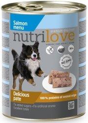 Nutrilove Premium Pyszny pasztet dla psa z łososia 800g
