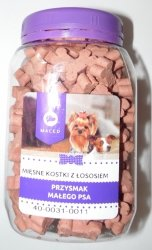 Maced Przysmak dla małego psa - Mięsne kostki z łososiem 300g