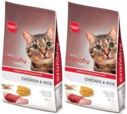 Crunchy Cat Menu Chicken & Rice 2x20kg (40kg)