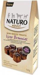 Naturo Mini Treats Brownies - ciastka z wątróbką dla wrażliwych psów 150g