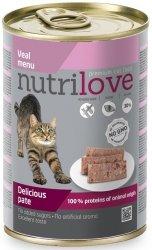 Nutrilove Premium Pyszny pasztet - danie z cielęciny dla kota 400g