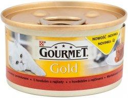 GOURMET Gold - Savoury Cake z Wołowiną i pomidorami. Dla dorosłych kotów.