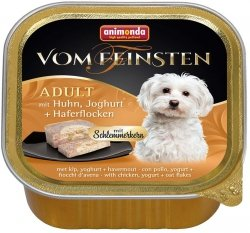 Animonda Vom Feinsten Adult z kurczakiem, jogurtem i płatkami owsianymi 150g