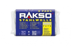 Wełna stalowa Stahlwolle RAKSO 8 Pads NR 0000