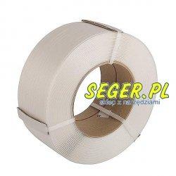 Taśma polipropylenowa PP 16x0,6 mm / rolka 2000m biała