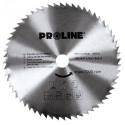 Piła tarczowa do drewna Proline 84825 250*60T*30/20/16mm