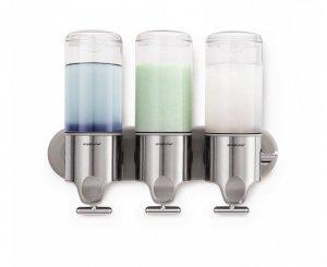 Simple Human - Ścienny Dozownik do Szamponu, Mydła, Żelu pod Prysznic - Potrójny