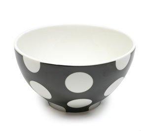 Polka Dot - Miseczka Czarna 15 cm