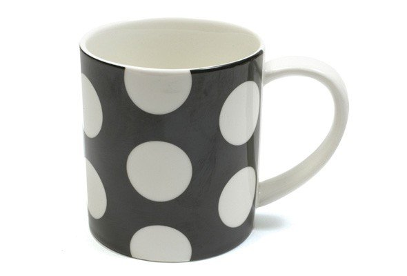Polka Dot - Kubek w Czarne Grochy 360 ml