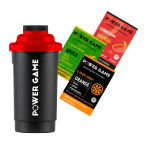 Power Game shaker 600ml + 3 saszetki