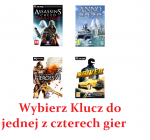 Assassins Creed Revelations i inne, klucz do 4 gier