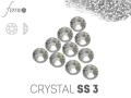 Cyrkonie Swarovski SS3 Crystal srebrne 50 sztuk