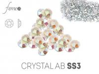 Cyrkonie Swarovski SS3 Crystal AB OPAL 50 sztuk