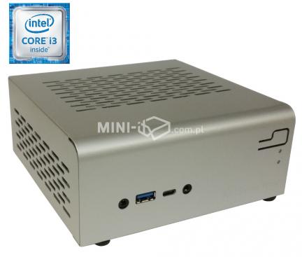 Komputer Przemysłowy µForce IPC Intel i3-6100T / 4GB RAM / 120GB SSD / Mini-STX Srebrny